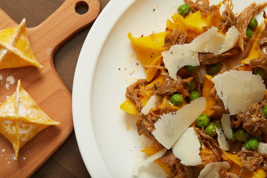 鴨肉とパルメザンチーズが味の決め手の「Fagottini」