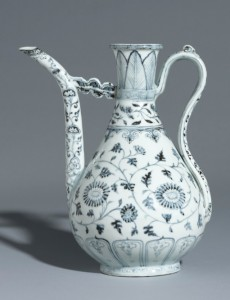12 Blue and white ewer