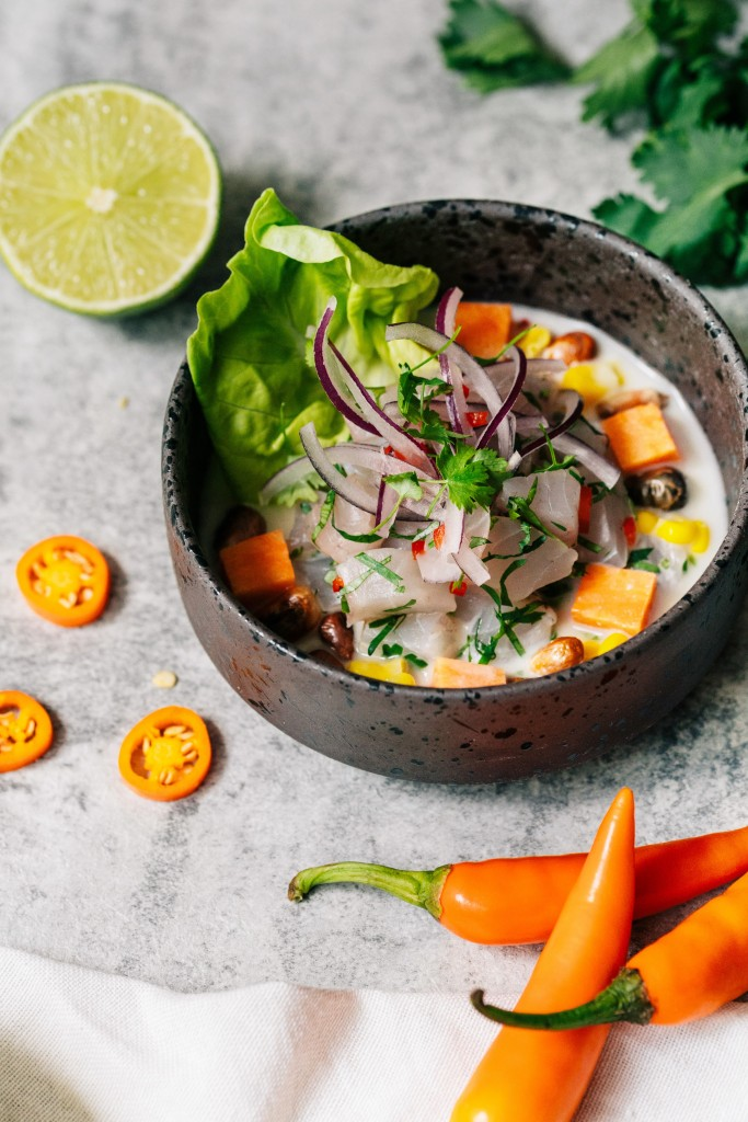 シーバスのセビーチェ「Peruvian Ceviche with Sea Bass」