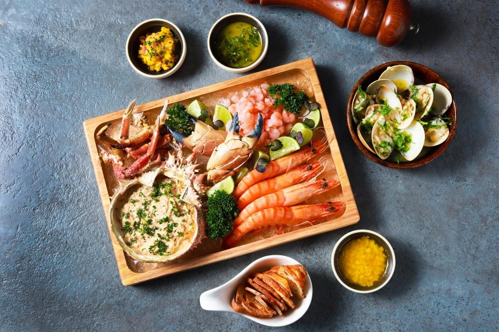 ボリュームたっぷりの「Seafood Platter」