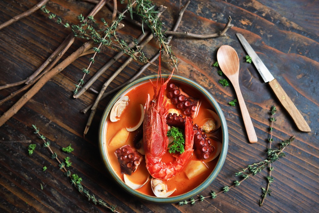 ココロもカラダもほっこりする味の 「Caldeirada Gallega Seafood Stew」