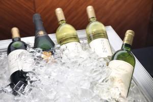 式典で振舞われた山梨県のワイン