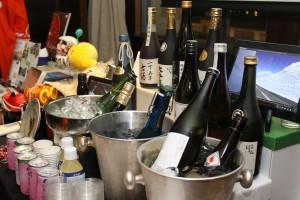 式典で振舞われた福島県の日本酒