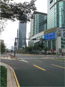 2020/2/6 PM3時 深セン市ビジネス中心街