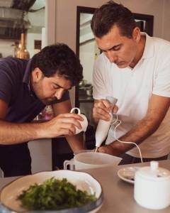 オーナーシェフの AlessandroさんとLucaさん