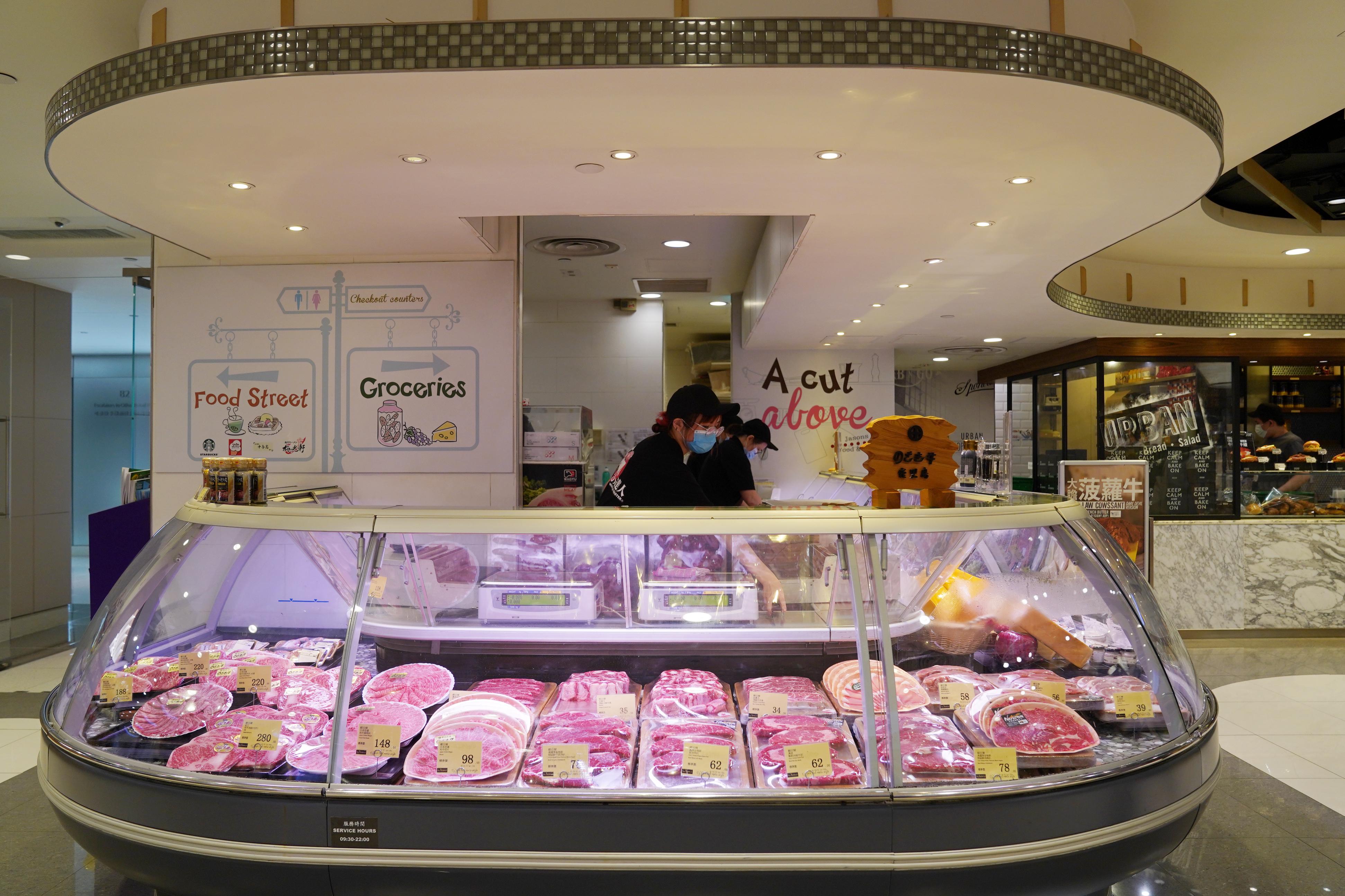 Hysan Place地下2階 スーパーマーケット肉売り場