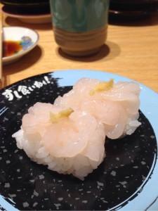 回転寿司の白海老