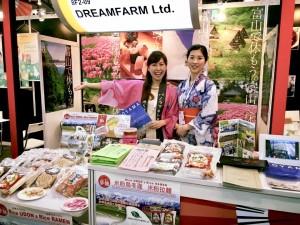 富山の海外進出をお手伝い しています! 右に写っているのは「OYATSU」を経営して いる女将。