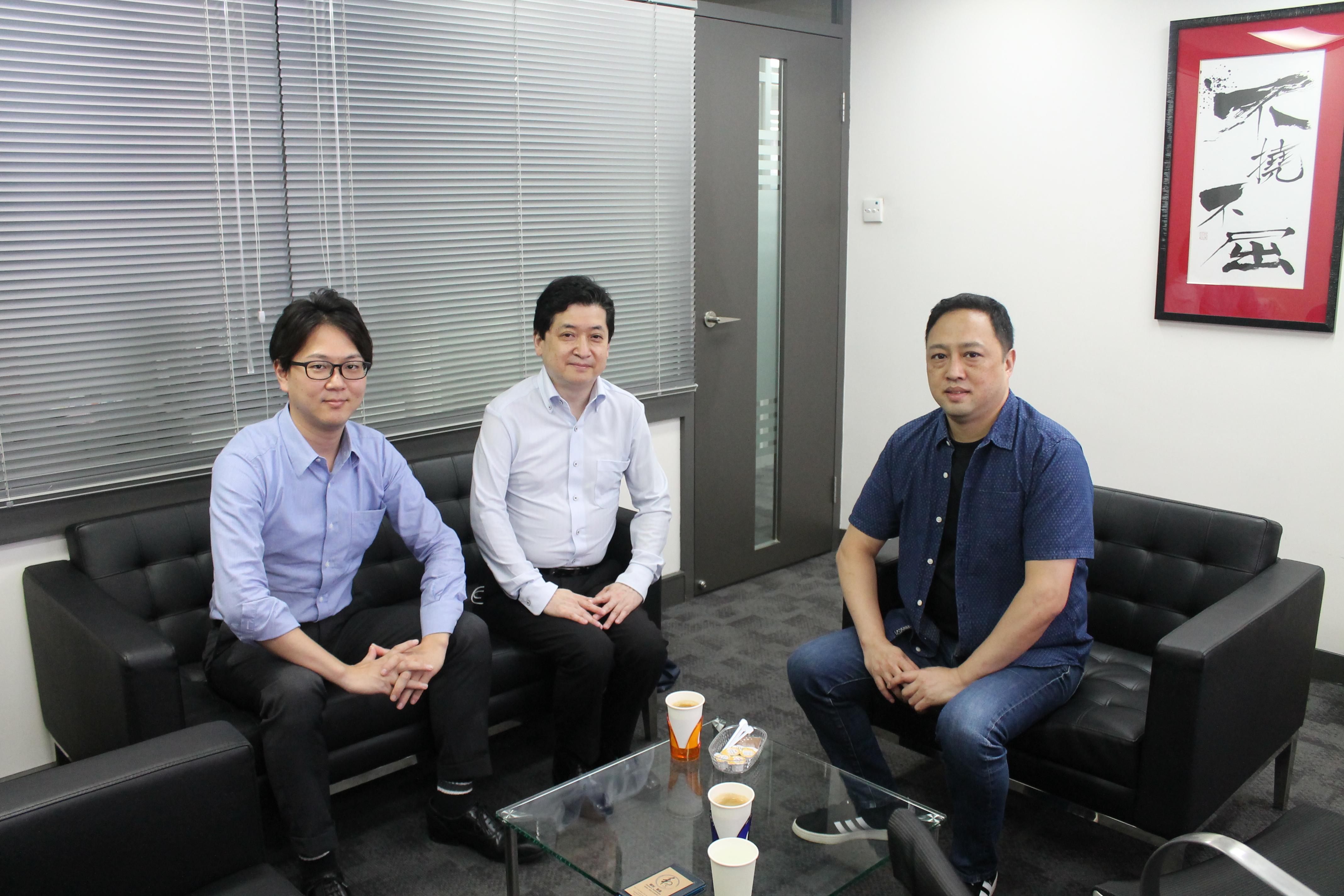 和家 H.S.Planning 井本氏(中央)と宮本氏(左)、和家 植村氏
