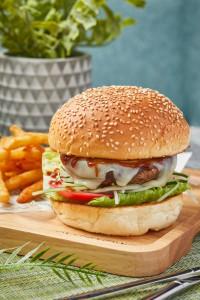 がっつりかぶりつきたい 「Cheesy Wagyu Beef Burger」