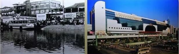 羅湖駅、左1980年、右1991年