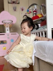 1歳の誕生日  ドレスを綺麗に着こなした